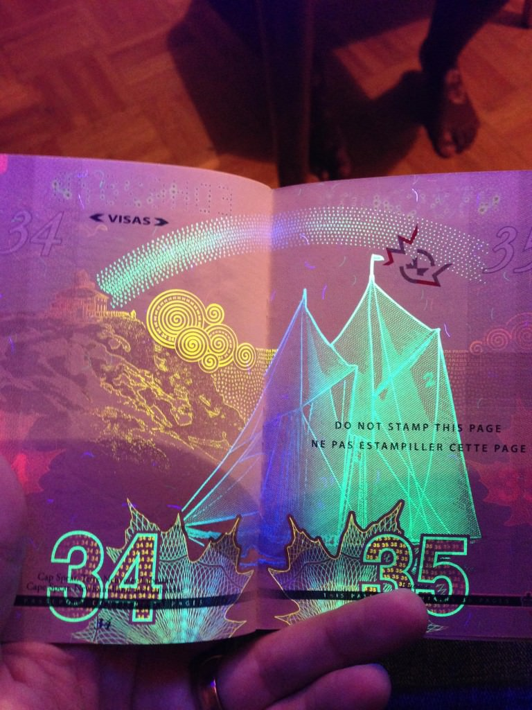 Bluenose_rainbow_Canada_Passport_ Blacklight
