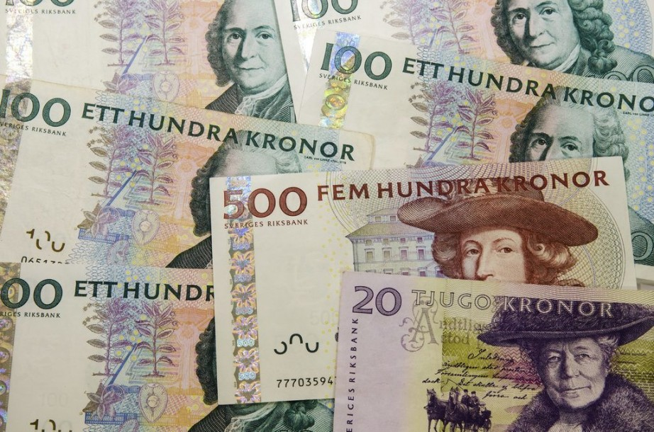 how to write swedish krona