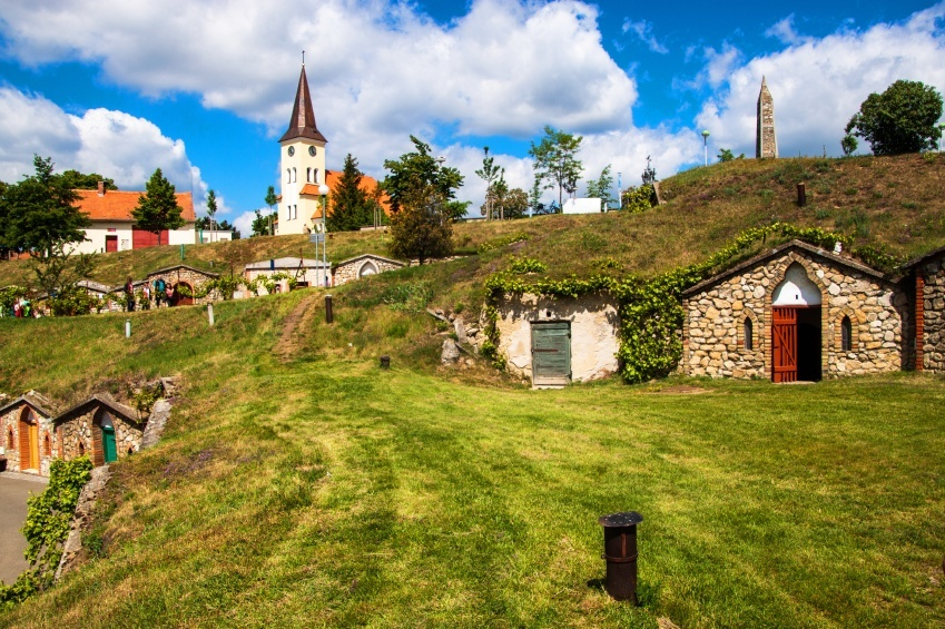 village in the Czech countryside during the day