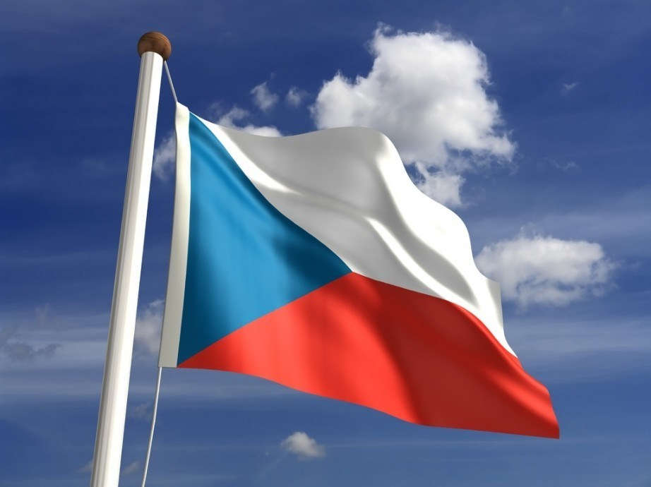 flag of the czech republic waving in the wind
