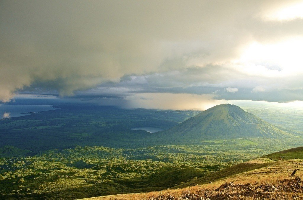 volcano in a lush nicaraguan landscape