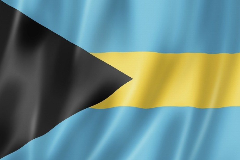 flag bahamas yellow blue black stripe