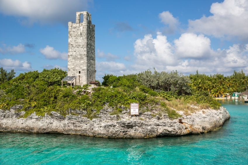tower water stone bahamas caribbean