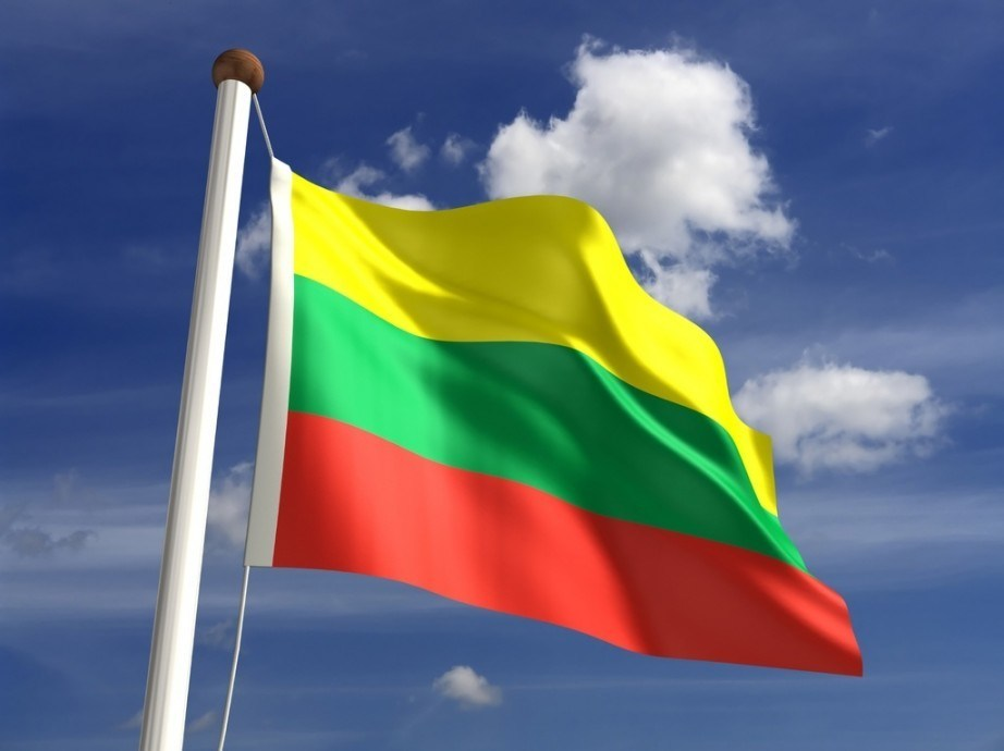 flag lithuania green red yellow saving animated