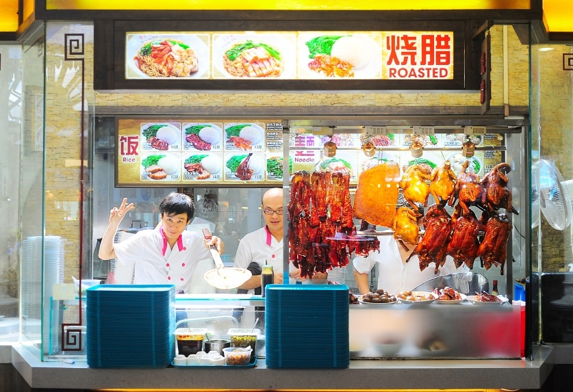 fast food stall dining food cuisine singapore people fresh