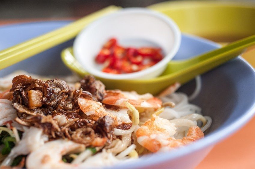 food singapore asian prawn rice noodle