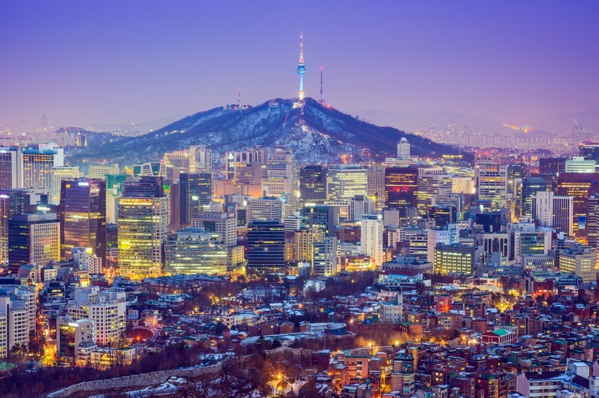 Image result for south korea city night