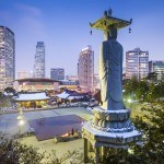 where to travel in south korea seoul gangnam statue city