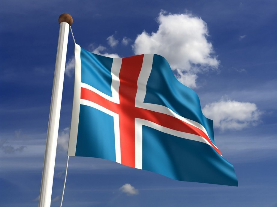 flag iceland blue red white nordic cross
