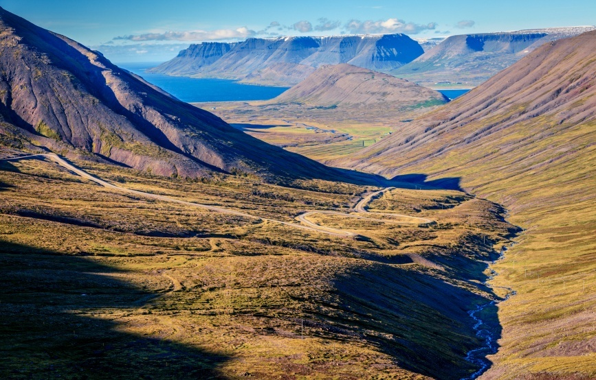 westfjords fjord iceland water coat mountain valley