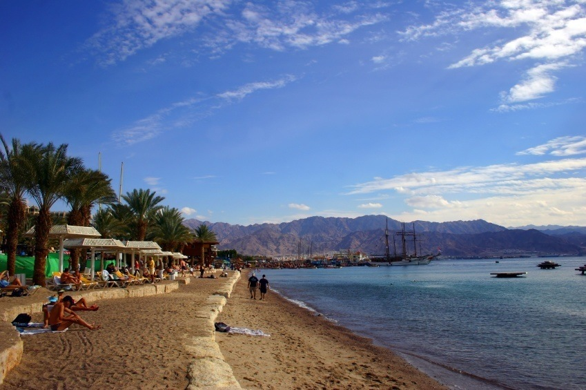 eilat israel beach coast sea