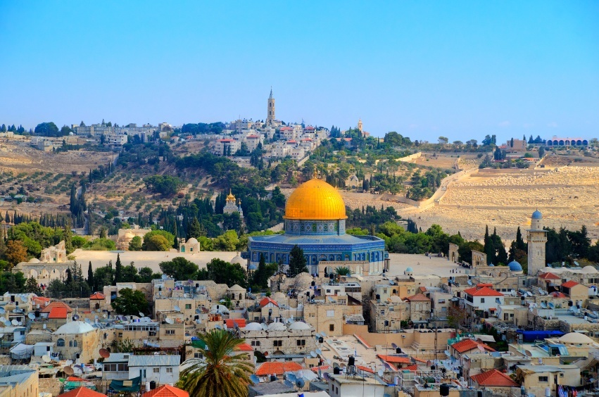 jerusalem dome golden city old israel