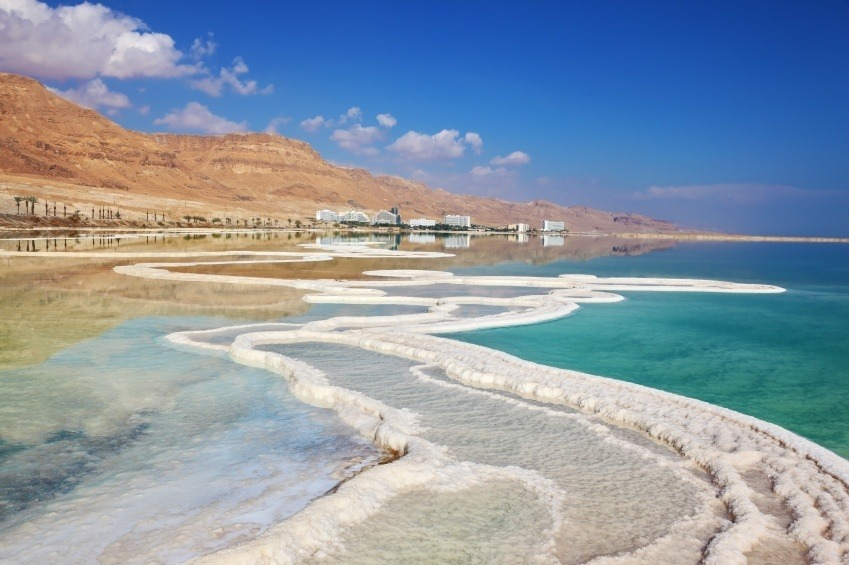dead sea salt israel coast water beach