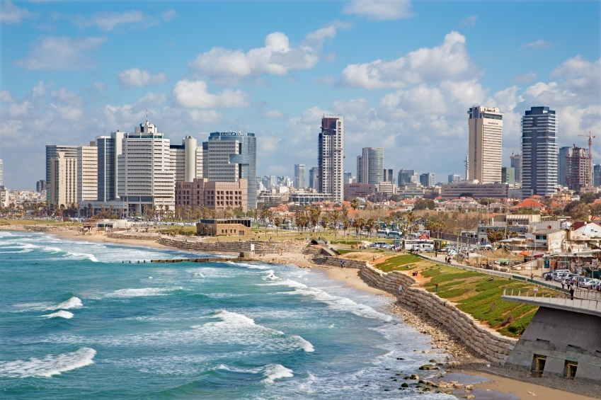tel aviv city israel coast beach sea