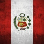flag peru red white green crest