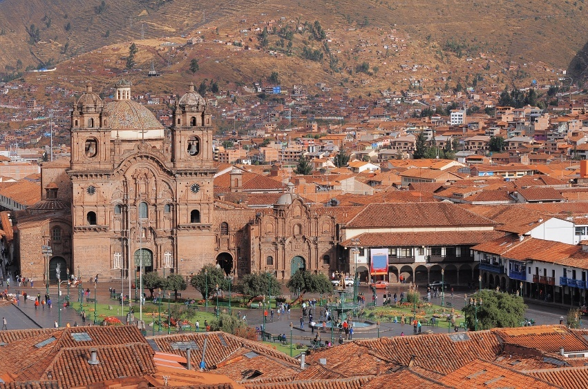 town old colonial peru city cuzco