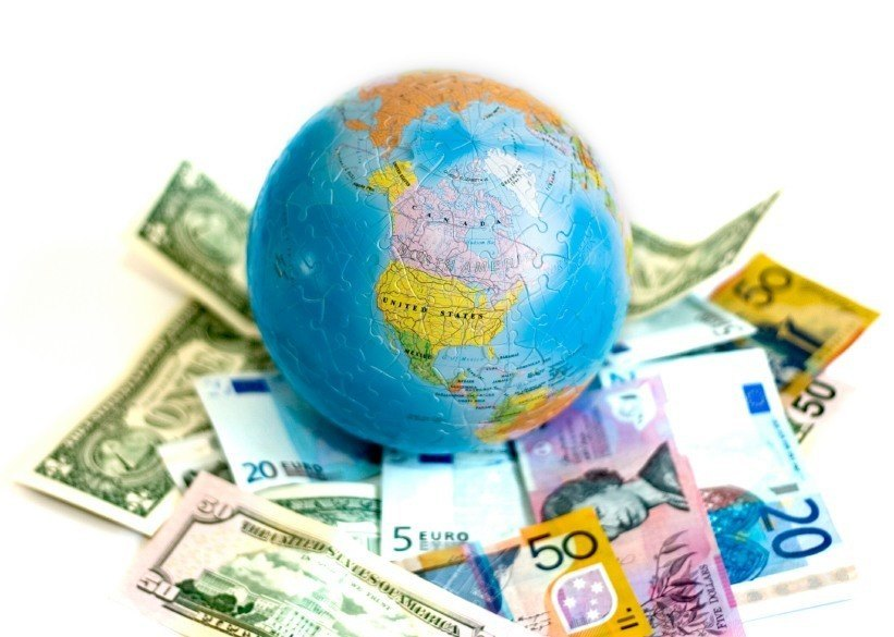 cash globe bills notes world