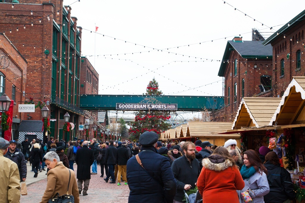christmas market day distillery district toronto