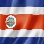 costa rica flag white red blue crest