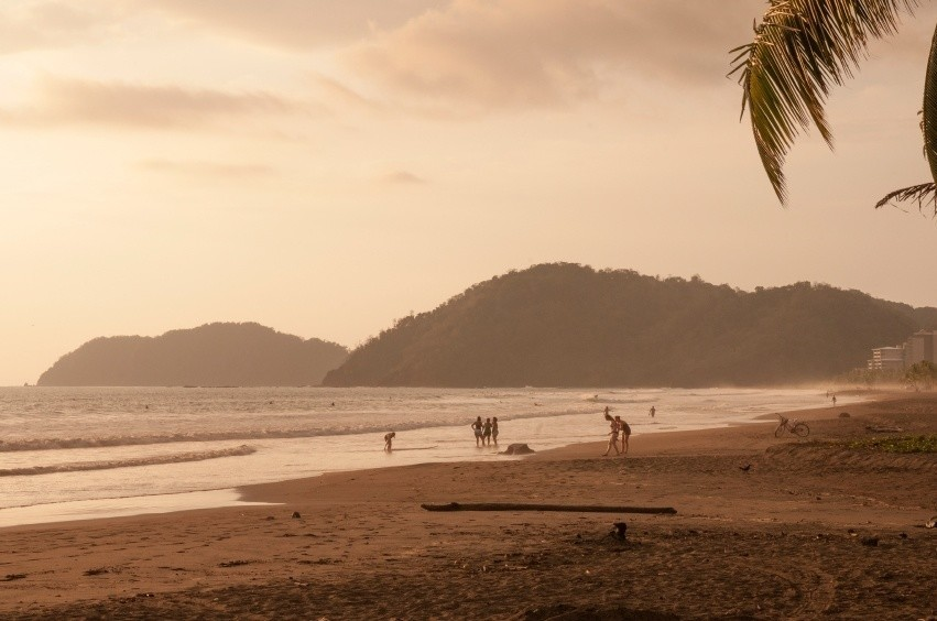 costa rica jaco beach sunset pacific ocean