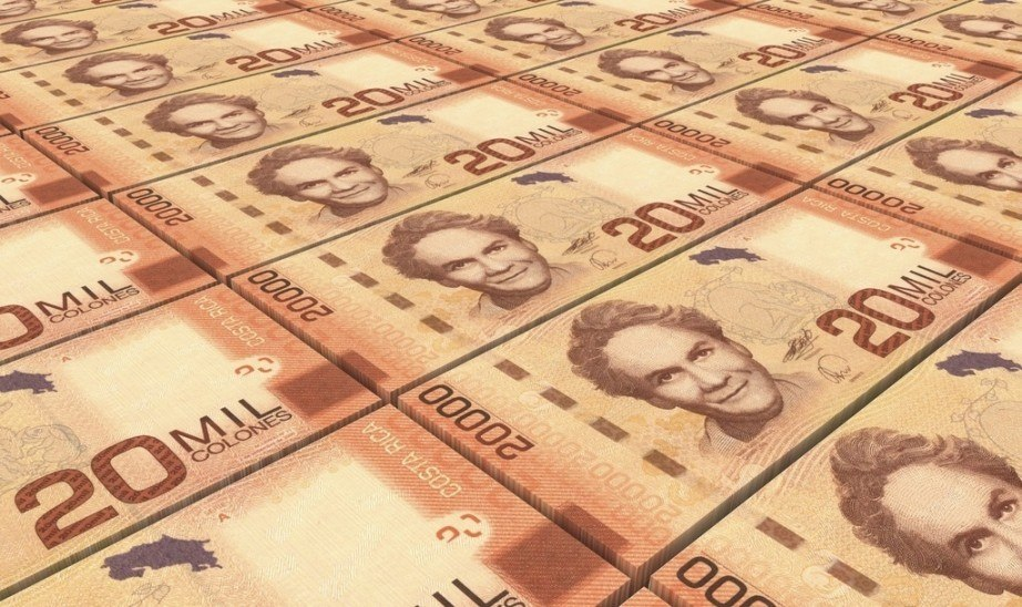 need to buy costa rican colón notes orange bills portrait