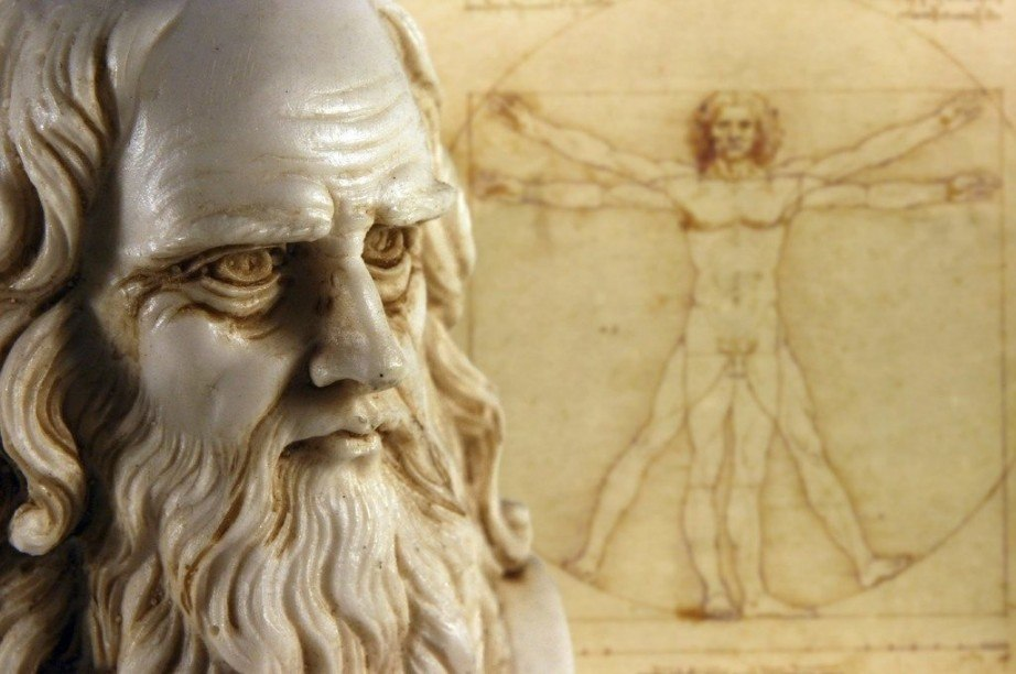 da vinci vitruvian man bust most famous italian artists