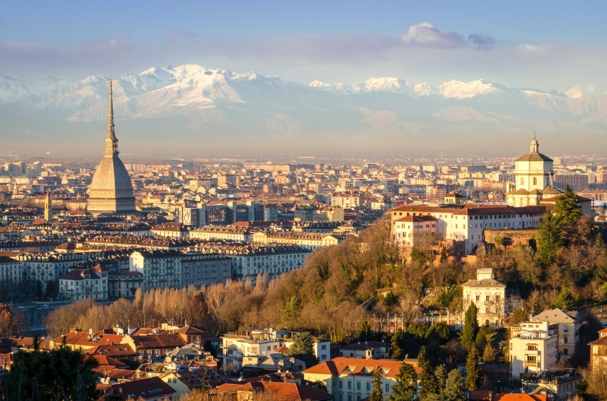 turin italy city mountains alps