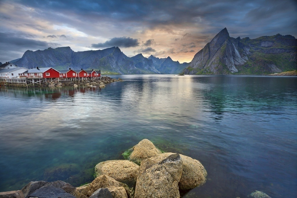 fjord village fishing bay norway