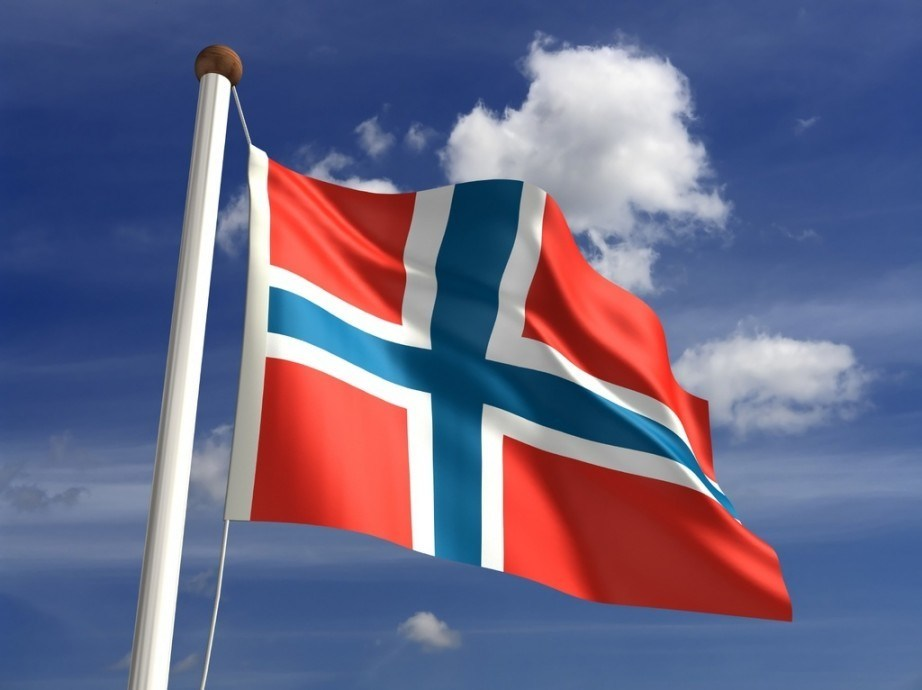 flag norway cross nordic blue red white