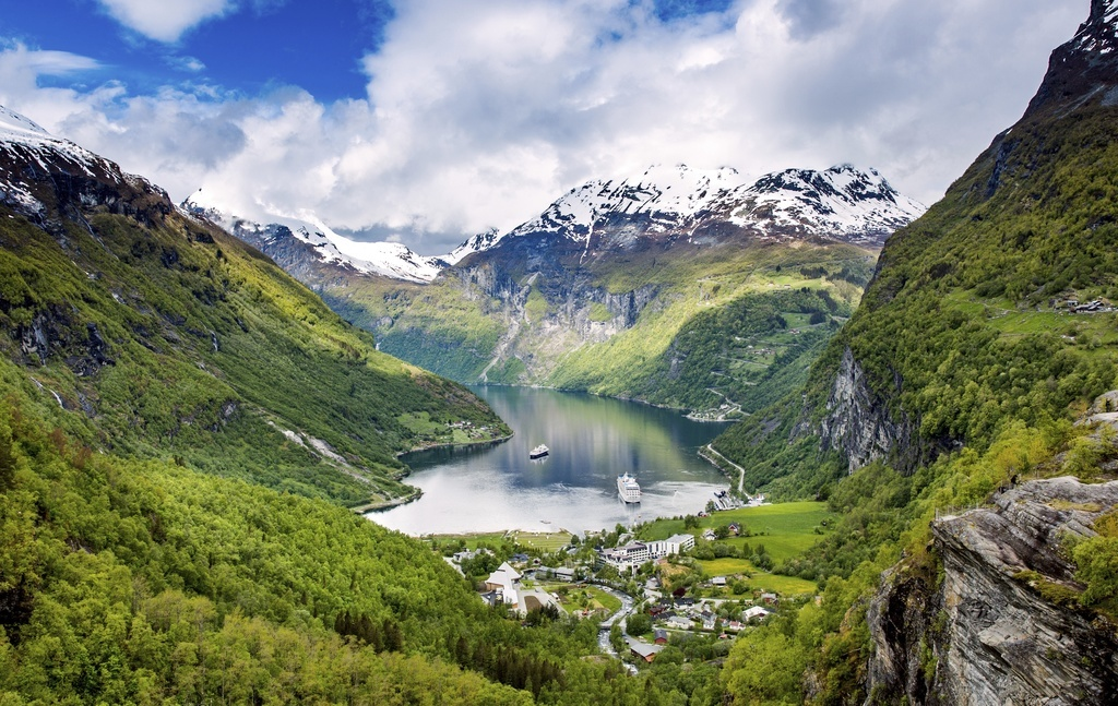where to travel in norway fjord water mountains landscape
