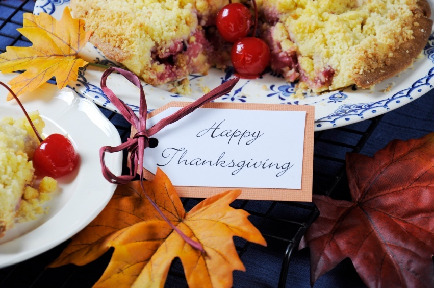 happy thanksgiving food cranberry pie leaves fall autumn