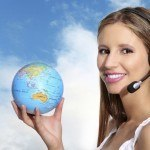why travel agents matter globe woman headset
