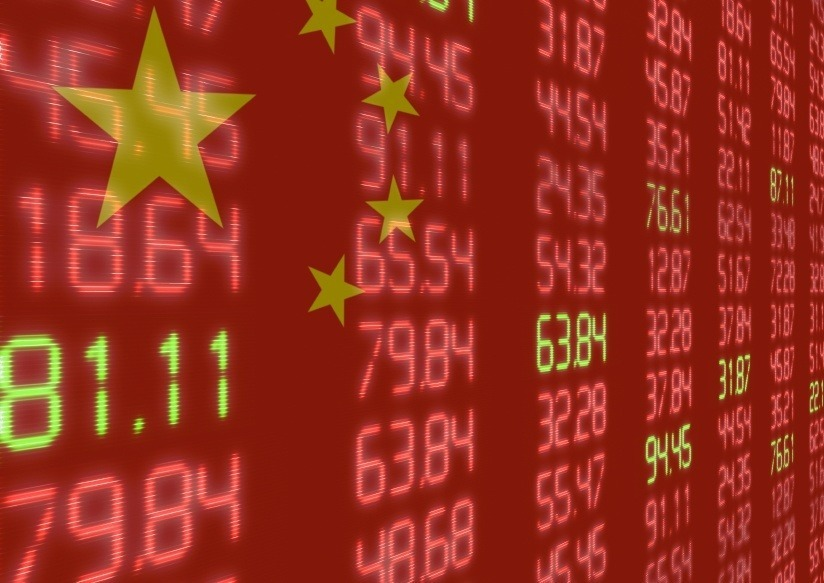china stock market economy flag numbers