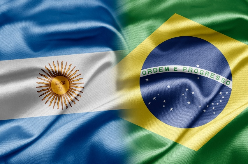 south america brazil argentina flag