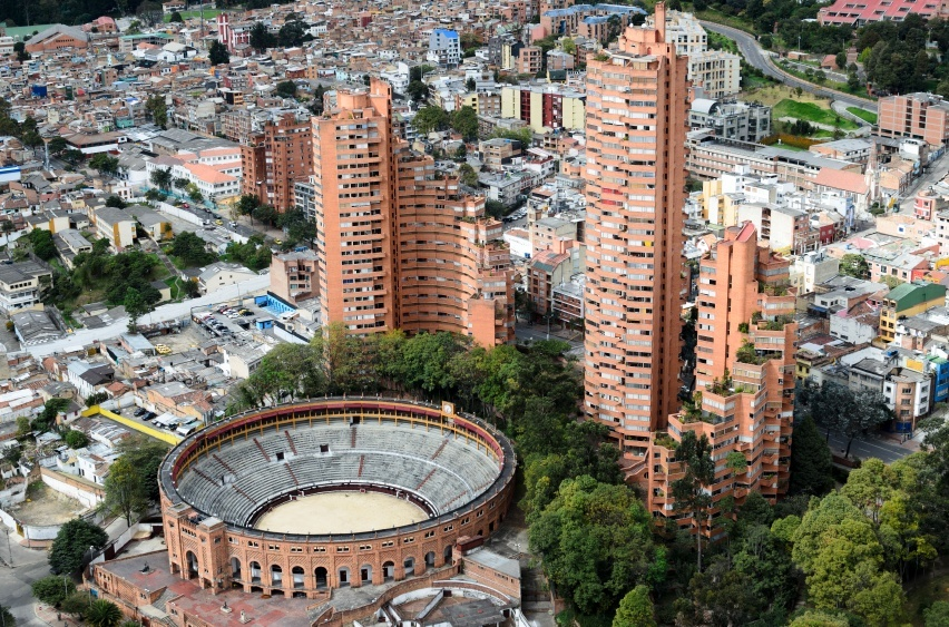 colombia city bogota stadium high rise