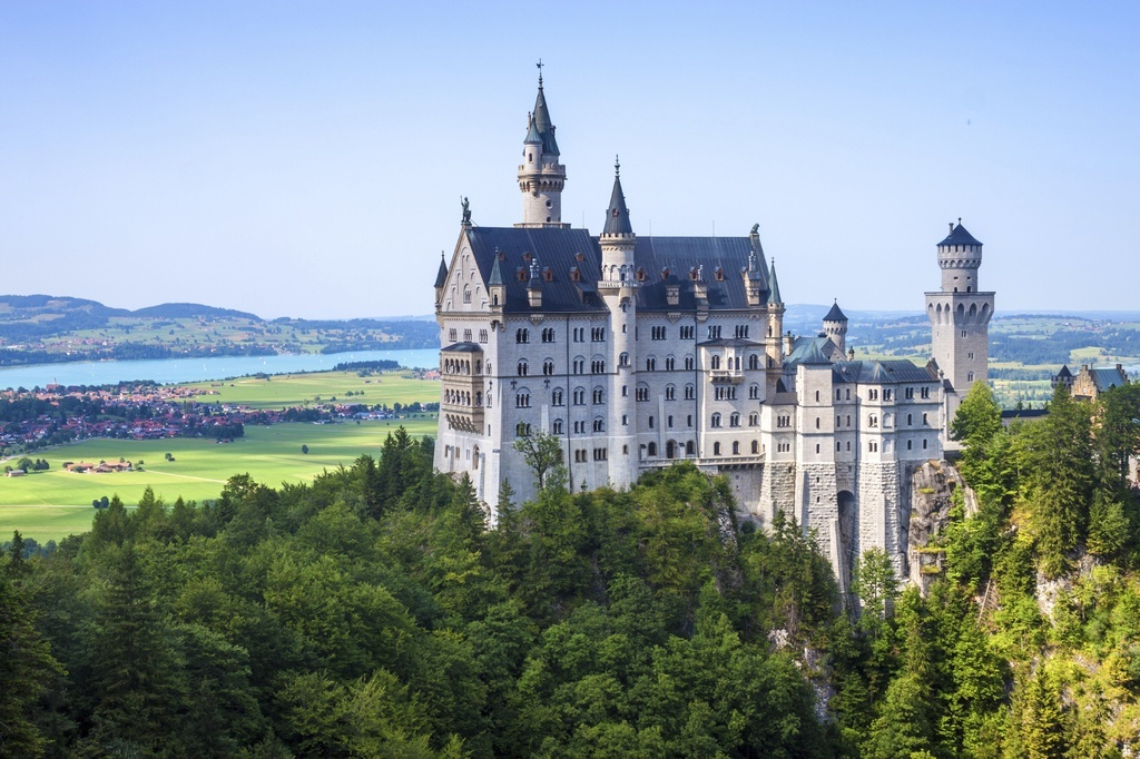 germany castle white bavaria alps