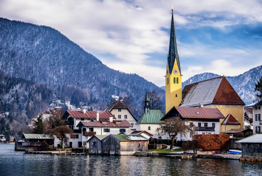 church village water mountains germany
