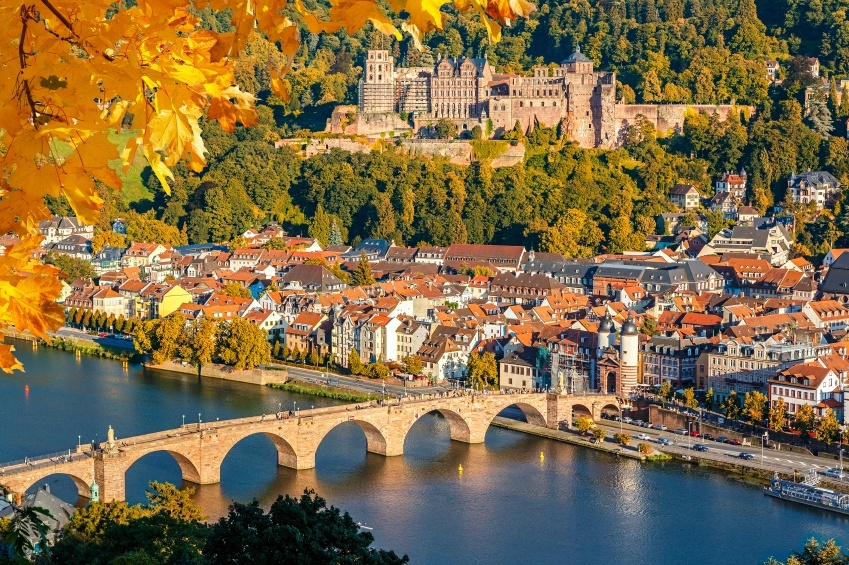 heidelberg city river germany bridge castle