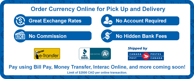 online order payment currency interac