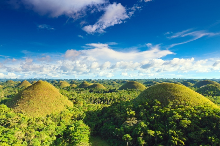 bohol philippines chocolate hills landscape