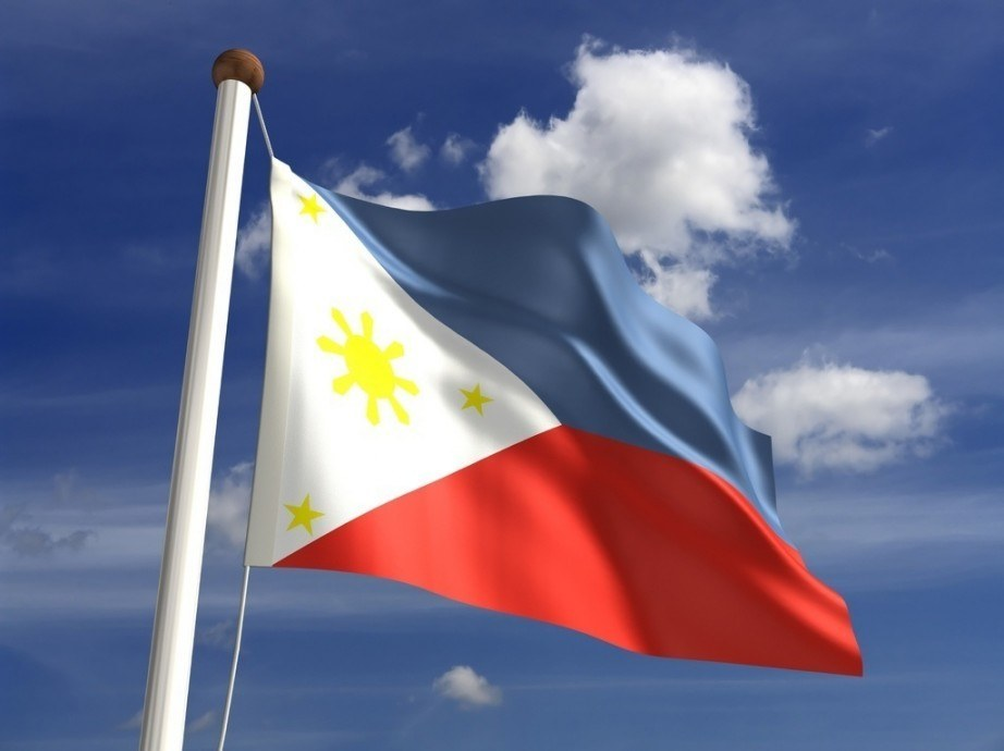 philippines flag red white blue yellow