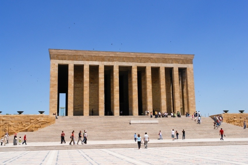 ankara capital ataturk mausoleum turkey