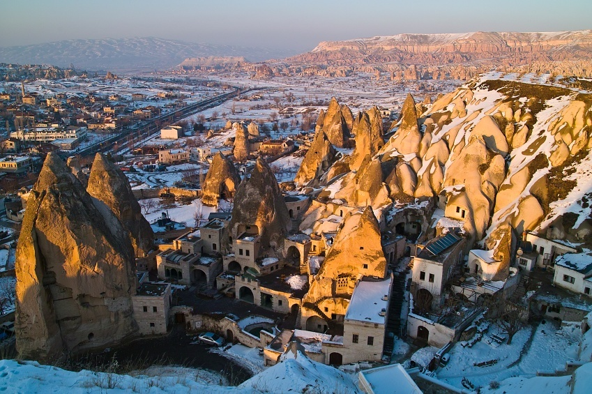 cappadocia rock formation turkey anatolia underground hoses unique