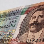 money cash barbadian dollar note 10 man portrait