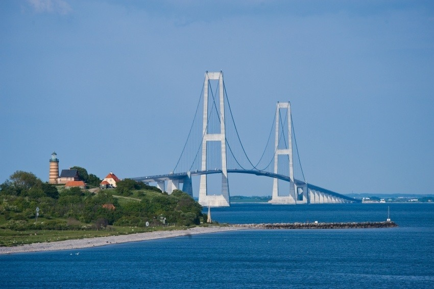 bridge denmark great belt island