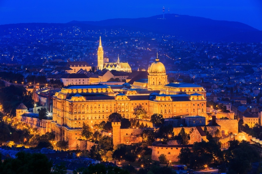 budapest buda castle night city hungary