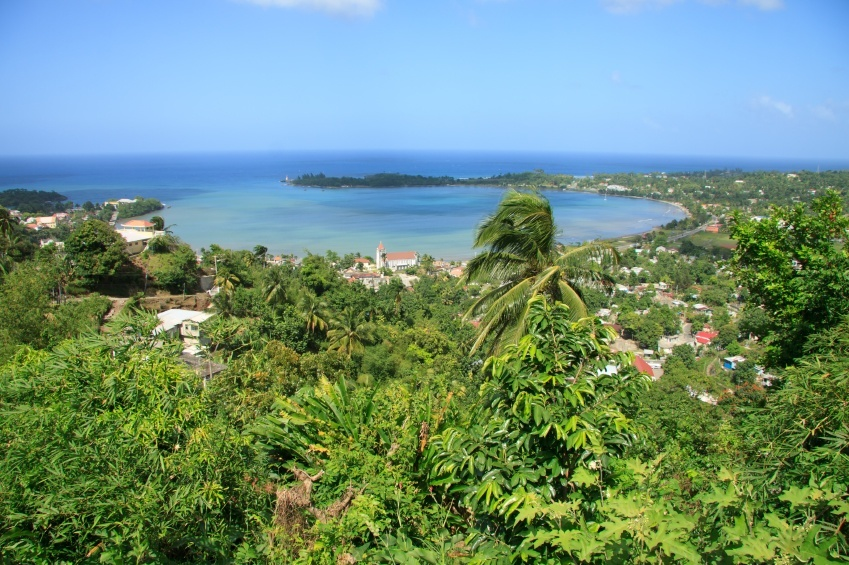 port antonio bay harbor jamaica caribbean sea