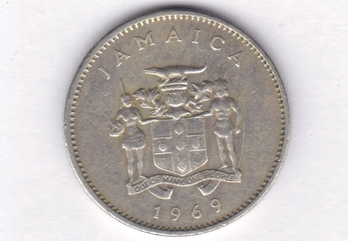 coin jamaican dollar jamaica silver money