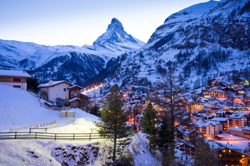 zermatt switzerland ski resort mountain matterhorn town