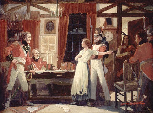 laura secord painting british war 1812 canada